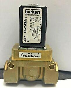 "BURKERT Typ 5404 P/N 134593 2-Way NC Solenoid Valve 50 bar 1/2"""