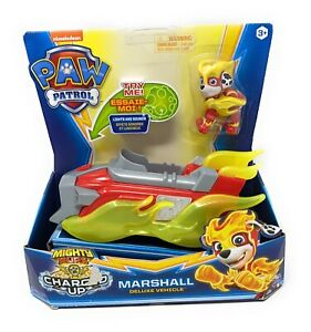 Paw Patrol Mighty Pups Charged Up Marshall Deluxe Vehicle NEW