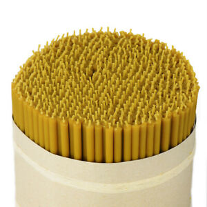 1560g (about 400 pcs.) beeswax premium quality candles no.100 36261