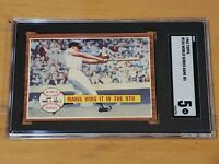 1962 Topps #234 Roger Maris World Series Games #3 SGC 5 Newly Graded PSA ?