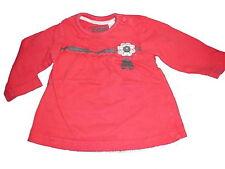 C & A tolles Langarm Shirt Gr. 68 rot mit Blumen Applikation !