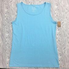 New Lur Woman 2XL Fashion For Change Recycled Cotton Aqua Tank Top Shirt Blouse