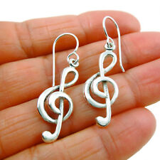 925 Sterling Silver Music Note Treble Clef Earrings Gift Boxed