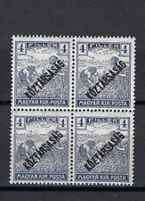 Hungary 1918 Sc# 155 Farm workers Koztarsasag 4fr block 4 MNH
