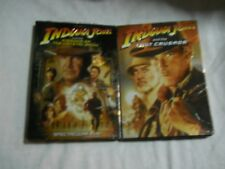 Indiana Jones Last Crusade and Kingdom of The Crystal Skulls Dvds W/Slipcovers