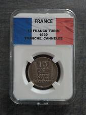 10 Francs Turin 1929 TB sous capsule SLAB