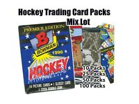 Mixed Hockey Trading Card Unopened 10 Packs of Different brands Lot
