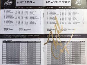 MICHAEL COOPER AUTOGRAPHED LOS ANGELES SPARKS STORM PROGRAM SIGNED LAKERS AUTO
