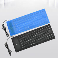 85Keys Soft Foldable Silicone Mute USB Wired Mini Keyboard Computer Accessory Sw