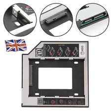 UK SATA 2nd HDD SSD Hard Drive Caddy Case For 9.5mm Universal Laptop CD/DVD-ROM