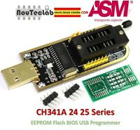 CH341A 24 25 Serie EEPROM Flash BIOS USB Programmatore with Software and Driver