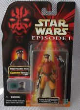 STAR WARS '99 EPISODE I Collection 2 NABOO ROYAL SECURITY Figure & CommTech Chip