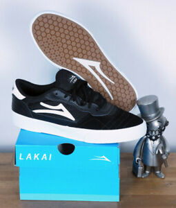 Lakai Footwear Skate Chaussures shoes Cambridge black white Daim 12/47