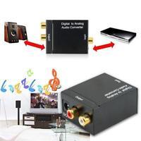 Digitaler optischer DAC-SPDIF-Koax-zu-Analog-L / R-Cinch-Audio-Konverter-Adapter