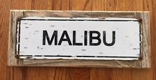 Malibu California Pier Beach Pacific Coast PCH Surf Surfing Vintage Street Sign