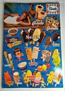 STREETS ICE CREAM 1990s CARDBOARD DISPLAY ADVERTISMENT