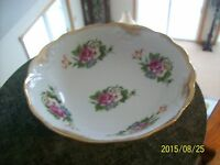 Vintage Porcelain Serving Bowl Scalloped Rose & Floral Design