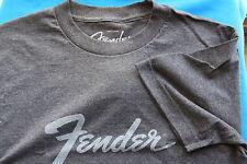 Fender Amp Logo Short Sleeve Tee Shirt, Charcoal Heather, Xl, Cotton Blend