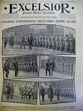 WW1 CONFERENCES DIPLOMATIQUES ALLIéES OFFENSIVES SOMME EXCELSIOR 17/11/1916