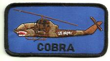 U.S.ARMY COBRA HELICOPTER PATCH WAR COMBAT ATTACK HELO MISSILES GUNS PILOT USA -