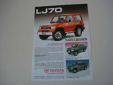 advertising Pubblicità 1991 TOYOTA LJ70 LJ 70