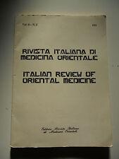 166D - RIVISTA ITALIANA DI MEDICINA ORIENTALE VOL. II N. 3 - 1981 -