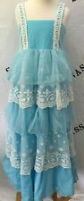 Girls WDW Well Dressed Wolf Wildlings blue duchess elsa dress Size 6 years VGUC