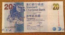 Hong Kong Banknote. 20 Dollars. Standard Charter Bank. Uncirculated.