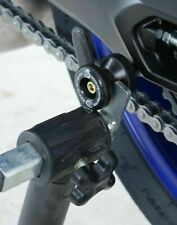Yamaha YZF-R6 2003 R&G Racing Black M6 Cotton Reels Paddock Stand Bobbins