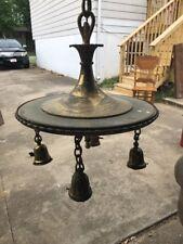 Antique Victorian 4 Light Solid Brass Chandelier Ceiling Fixture Perkins OLD