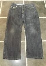 BEST JEANS RAW DENIM INDIGO BLUE BUTTON FLY W32 L26 SHORTENED LEG 100% COTTON