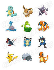 Pokemon edible party cupcake toppers cupcake image sheet
