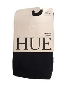 New w/tags, HUE U22196 Flat Knit Sweater Tights 9412NAVY Size M/L