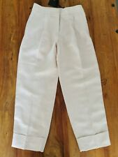 Massimo Dutti Linen Trousers Chinos Beige UK 8 EUR 36 New With Tags