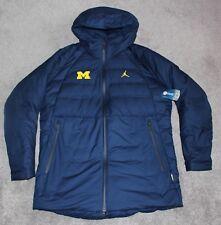 NEW Michigan Wolverines JORDAN Parka DOWN Jacket Men LARGE L Stay Warm Aeroloft