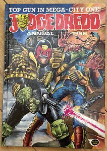 Judge Dredd Annual 1989 Hardback Book - VGC - Quick PP