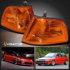 For 1990-1991 Honda Civic 2Dr 3Dr Hatchback Corner Parking Lamp Light Amber Pair