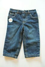 Carter's Blue Denim Jeans with Buffalo Plaid Cozy Lining Baby Boy 12 Months NEW