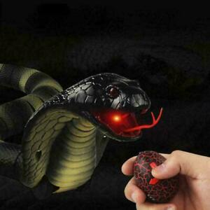 Infrared RC Remote Control Snake Realistic Prank Fun  Charging Toy USB A8Q8