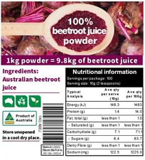 1kg (1000g) dried 100% Australian BEETROOT JUICE powder