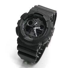 Casio GA-100-1A1 G-Shock Velocity Indicator Sports Black Resin Mens Watch GA100