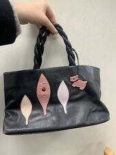 Black Leather Radley Handbag Ladybird Design