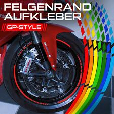GP Design Felgenrandaufkleber Felgenaufkleber Auto Motorrad Weiß Schwarz Silber