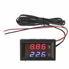 Dc 12v 24v Led Display Car Voltage Water Temperature Gauge Voltmeter Thermometer
