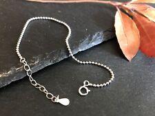 Sterling Silver Bead Ball Chain Bracelet Bangle