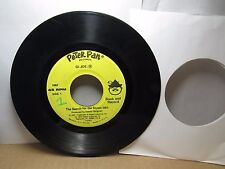 Old 45 RPM Children's Record - Peter Pan 1967 - G.I. Joe Search for Stolen Idol
