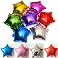 5/10pcs 10'' Five-pointed Star Helium Foil Balloon Wedding Birthday Party Decor