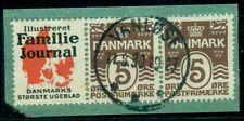 Denmark (Re36) 5ore brown, Familie Journal advertising pair used