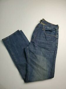 American Eagle Slim Straight Made To Last Dark Wash Blue Mens Actual Size 38X35