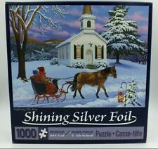 Lighting The Way by John Sloane - Silver Foil Bits & Pieces 1000 pc Puzzle - NEW